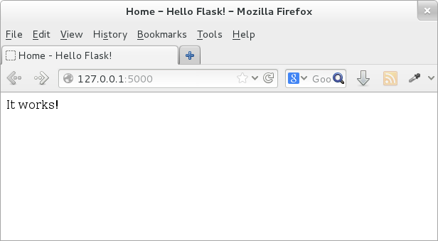 Introduction to Flask — Python for you and me 0 3 alpha1